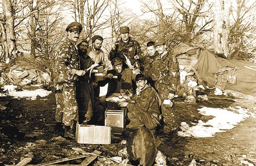 Русские добровольцы под Вышеградом. 1993 год.