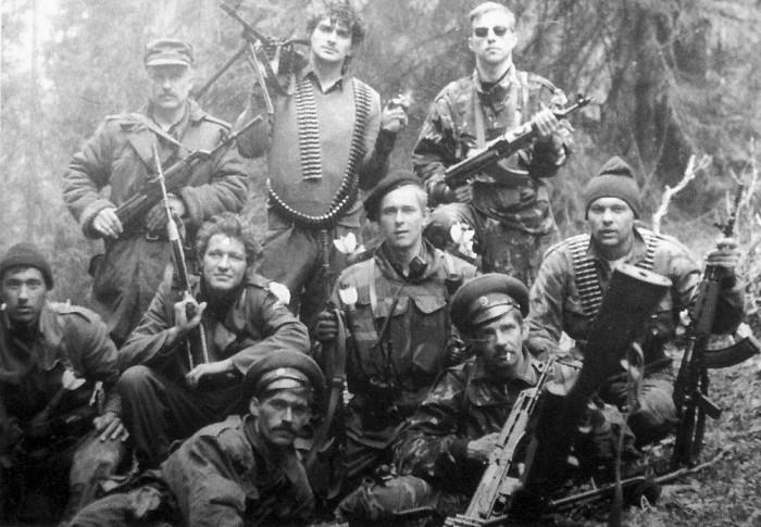 Группа русских добровольцев на высоте Заглавак.