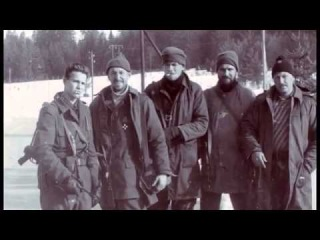 Доброволец Костя, первый слева, кадры из документального фильма «Ангел с горы Заглавак».