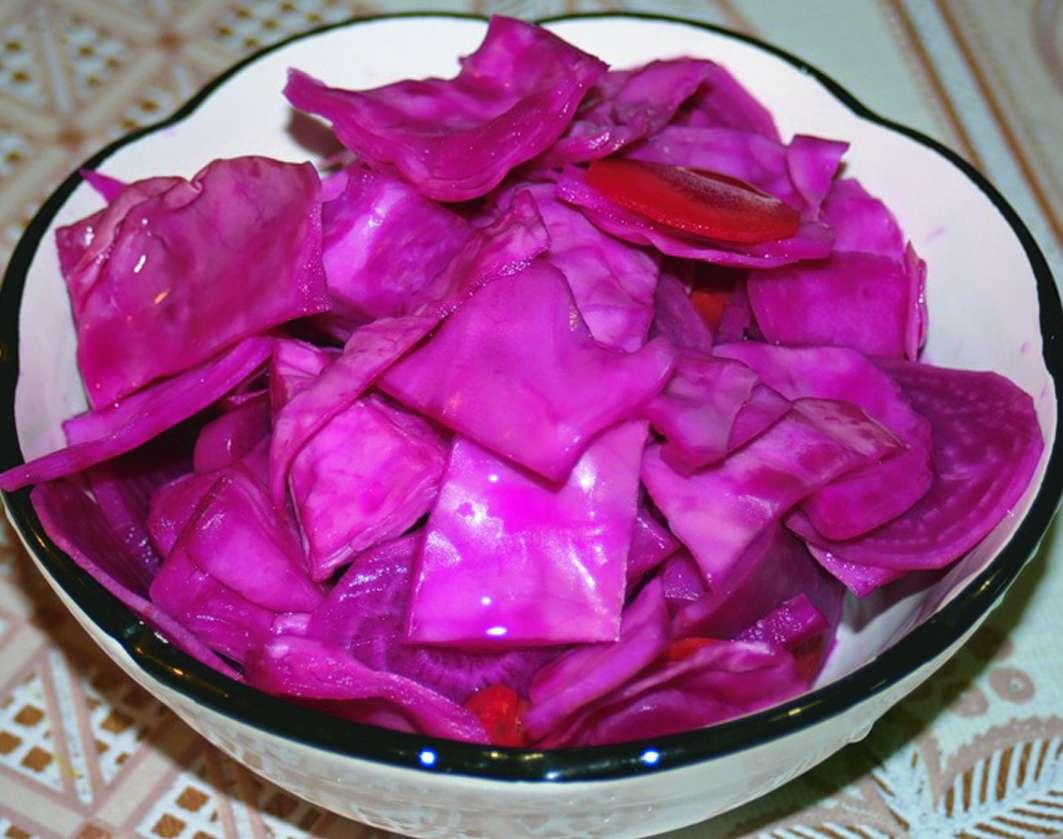 Капуста со свеклой маринованная на зиму рецепт пошагово